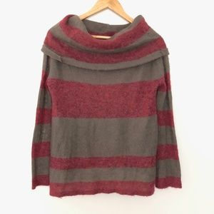 Free People Cowl Neck Striped Sweater XS